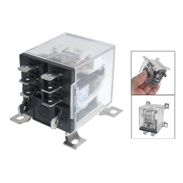 JQX-12F 2Z DC 12V 30A DPDT General Purpose Power Relay 8 Pin free shipping elecall 10pcs lot jqx 15f 1z dc48v miniature electromagnetic relay no 30a nc 20a 240vdc 28vdc 48vdc power relay
