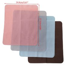 4 Pcs/Set Glasses Cleaner Cloth Suede Fabric Soft Portable Double Side Cleaning Lens Phone Screen