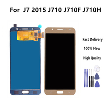 TFT LCD For Samsung Galaxy J7 2016 J710 J710FN J710F J710M J710Y J710G J710H Touch Screen Digitizer Assembly With No Home Button стоимость