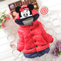 Outono Inverno Meninas Do Bebê Manga Longa Com Capuz Grosso Quente Casacos Crianças jaqueta casaco bebê Infantil Princesa Outerwear ropa de ninas