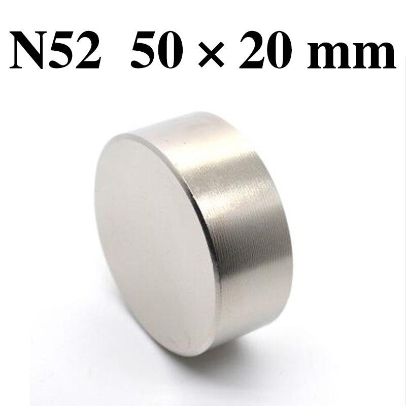 HYSAMTA  1pcs N52 Neodymium magnet 50x20 mm gallium metal super strong round magnet 50*20 Neodimio magnetsHYSAMTA  1pcs N52 Neodymium magnet 50x20 mm gallium metal super strong round magnet 50*20 Neodimio magnets