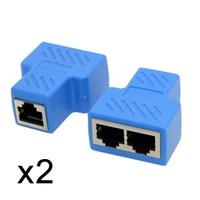 10pcs/lot CY 2pcs STP UTP Cat6 RJ45 8P8C Plug To Dual RJ45 Splitter Network Ethernet Switcher Adapter
