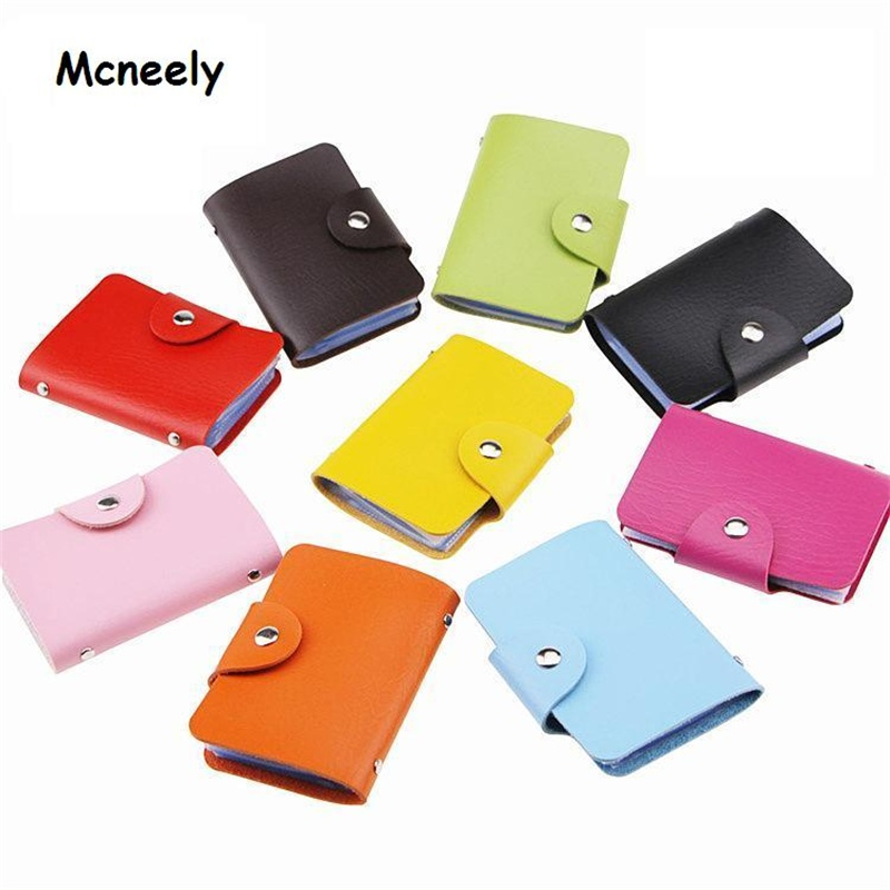 Mcneely High Capacity Card Organizer Wallet High Quality Bank Credit Card Case Unisex Business Card Holder Wallet ID Holders