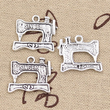 8pcs Charms sewing machine 20x17mm Antique Making pendant fit,Vintage Tibetan Bronze Silver,DIY bracelet necklace(China)