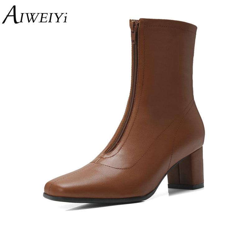 Las Invierno Para Marrón Zapatos Blackpu blackfur Botas Plataforma Aiweiyi  Tacones Mujeres Otoño Cuadrados Negro Altos ... 8e2c17400132