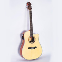 NEW Guitars 41 Inch High Quality Red Acoustic Guitar Rosewood Fingerboard Guitarra With Guitar Strings