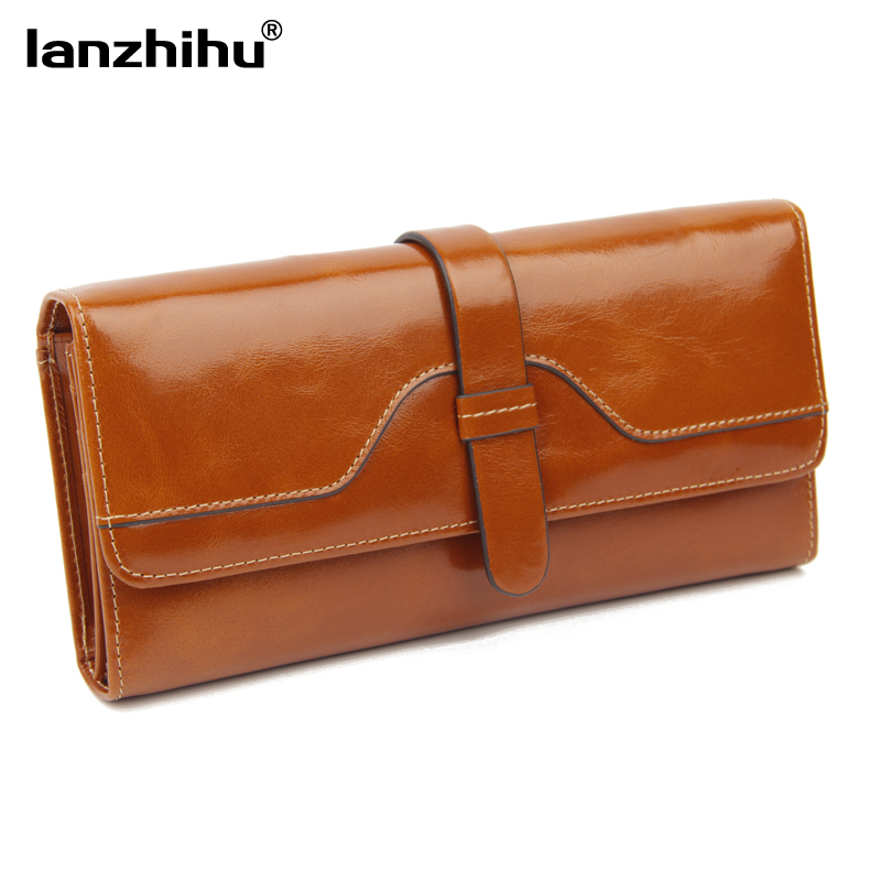 Women's Genuine Leather Wallet Real Cowhide Organizer Wallets for Women Long Design Woman Purse Credit Card Holder Phone Clutch real genuine leather women wallets brand design high quality 2017 cell phone card holder long lady wallet purse clutch