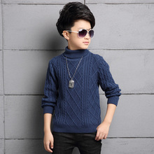 Kids Clothes New 2017 Spring Long-Sleeves Turtleneck Boys Knitting Sweaters Casual Woolen Outwear Children's Pullovers Hot Sell