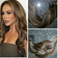 Balayage Europea Remy Clip en Extensiones Del Pelo Recto #2/30 Clip ins 7 UNIDS/140G cabelo humano Caliente reina BY229