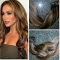 Balayage Europeu Remy Grampo em Extensões Do Cabelo Em Linha Reta #2/30 Clipe ins 7 PCS/140G cabelo humano Quente rainha BY229