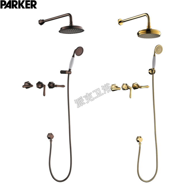 Bathroom Faucet Concealed Square Two Functions Embedded Box Mixer Valve  Shower Set With Various Styles Shower