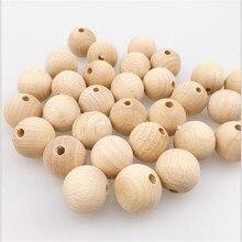 10-150 шт новые высококачественные необработанные деревянные бусины 8-20 мм круглые деревянные бусины для прорезывания зубов для ухода за ребенком игрушки ювелирные изделия