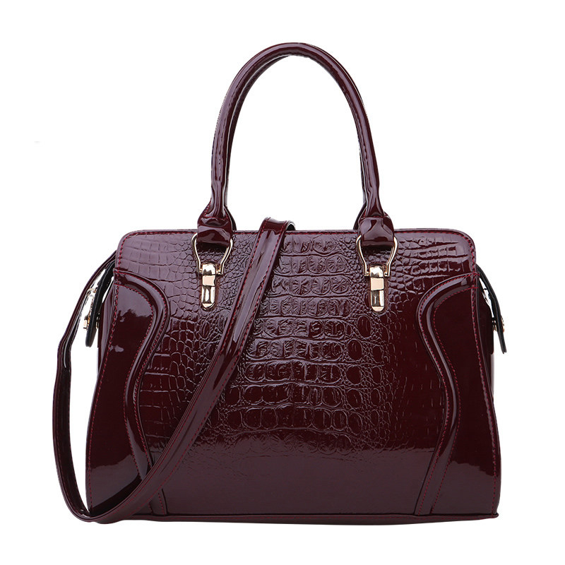 Luxury Crocodile print PU Leather Hand Bag Occident Style Classy Women Elegant Bag Ladies Fashion Embossing