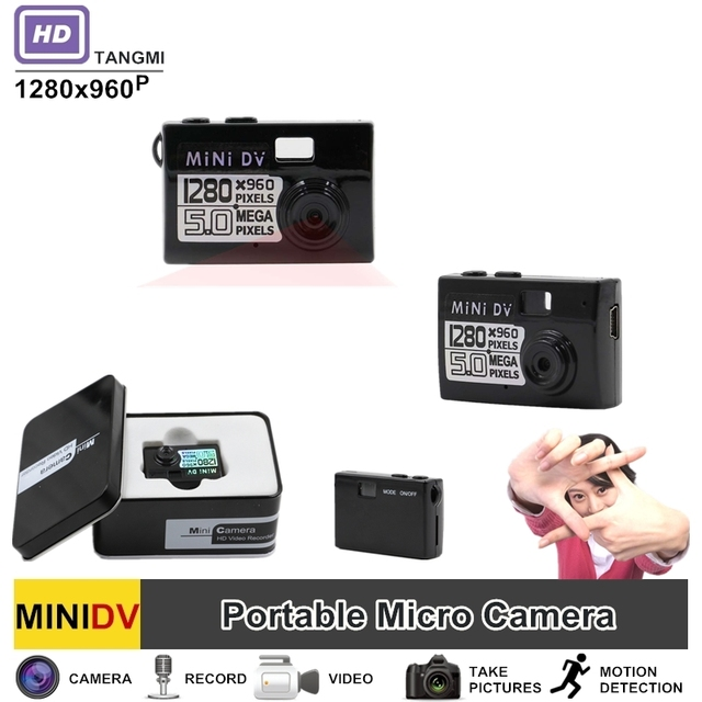 TANGMI Brand New A1 HD 960p Mini DVR Camera Motion Detection Micro Video Camcorder Portable Audio Video Secret Camera