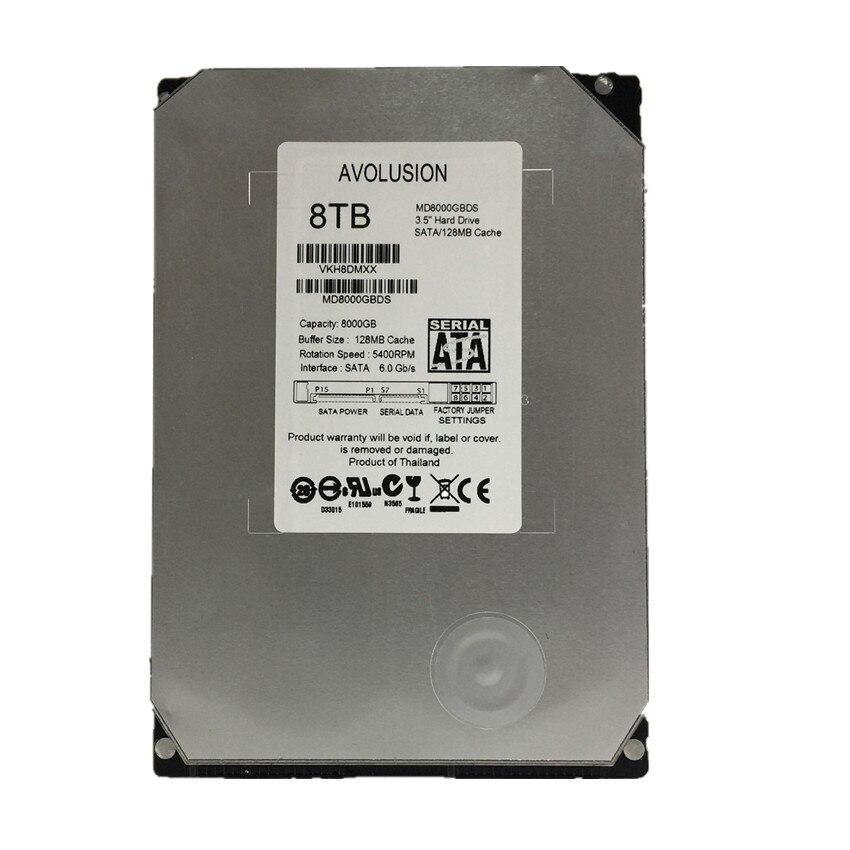 8 tb Vigilância Hard Disk Drive-Classe 6 gb/s SATA de 5400 rpm 128 mb Cache 3.5 Polegada Garantia para -ano
