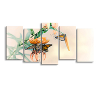 5 pieces high definition print butterfly canvas painting poster and wall art living room picture B 089