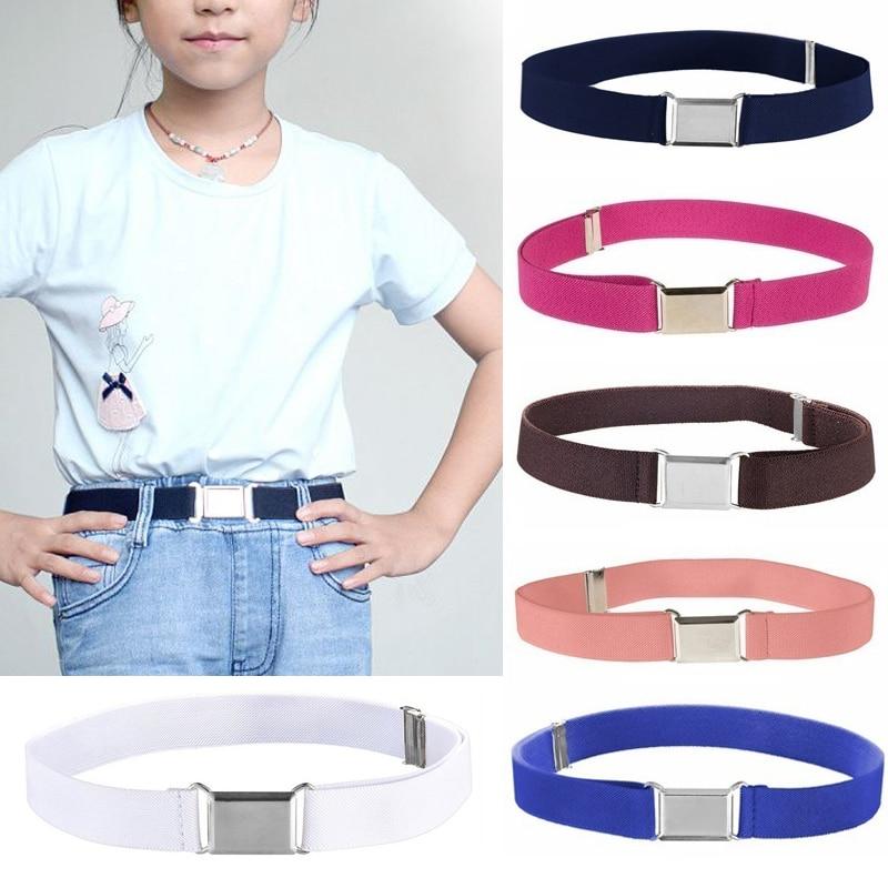 Belt Children Girls Stretchy Candy Color Toddler Boy Girl Adjustable Elastic