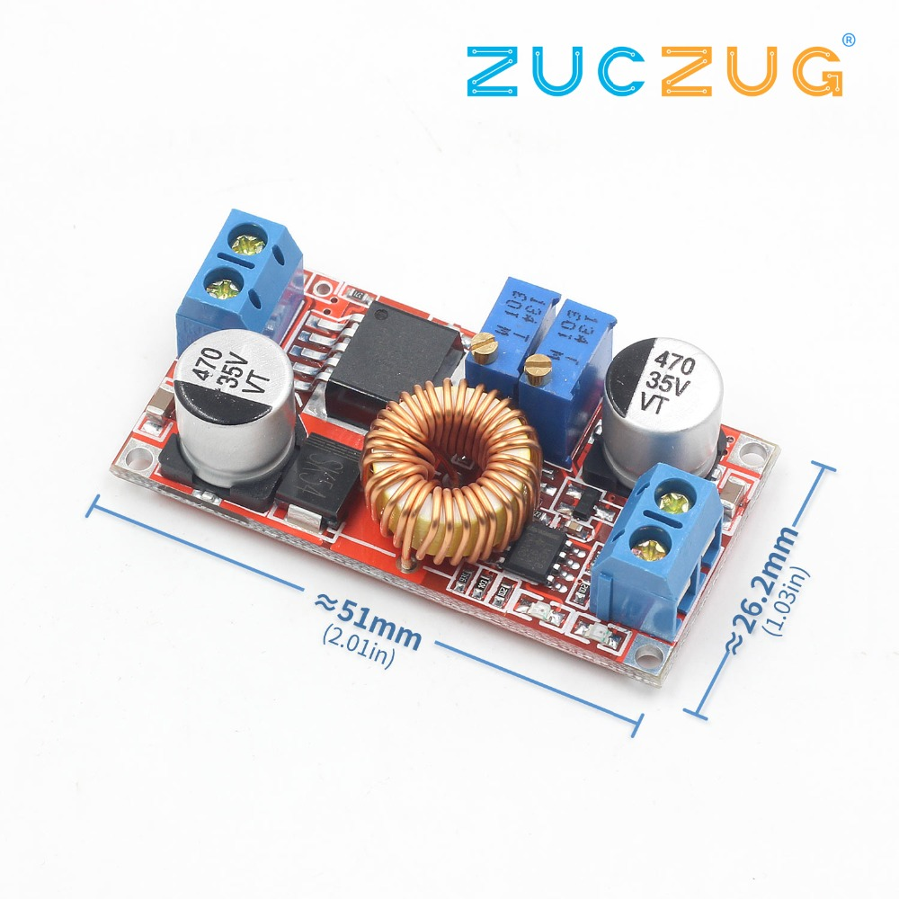 Arsmundi Lithium Battery Charger Module 5V-32V to 0.8V-30V 5A LED Driver Step Down Buck Converter Board Constant Current VoltageArsmundi Lithium Battery Charger Module 5V-32V to 0.8V-30V 5A LED Driver Step Down Buck Converter Board Constant Current Voltage