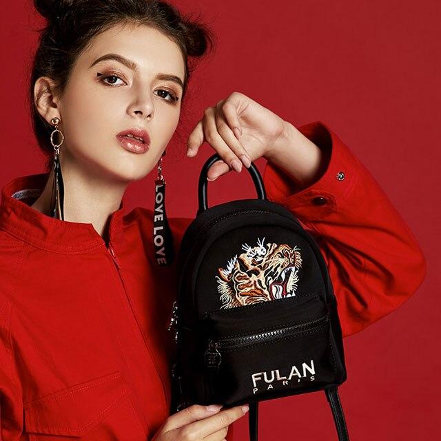 FULANPERS nouveau femmes Mini sac à dos de mode personnalité tigre tête sac à dos Tigernu Mochila Mochila Mujer