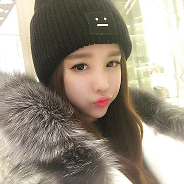 Cute Trendy Warm Winter Knitted Beanie Caps New Korean Style Women Girl  Casual Soft Hats Autumn Skullies Crochet Soft Bonnet 074328a1c73