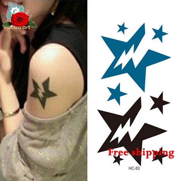 Caliente Venta A Prueba De Agua Alternativa Estrellas Tatuaje