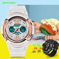 三田新しい子供の腕時計アウトドアスポーツ子供男の子と女の子ledデジタル腕時計防水子供のスポーツ腕時