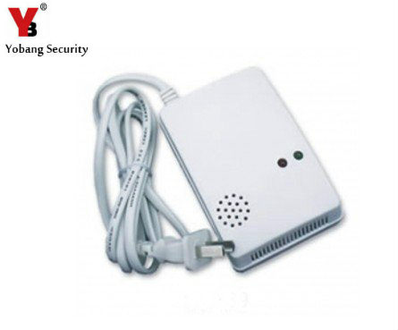YobangSecurity 433mhz Gas Alarm Sensor gas Leak Detector 433Mhz Work With Alarm System 220V gas detector gas sensor z wave plus gas water auto valve smart home automation controller work with water leak sensor alarm gas leakage sensor
