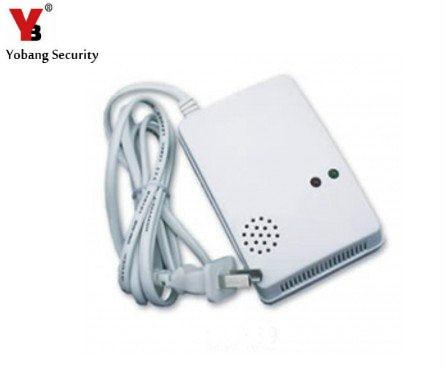 YobangSecurity 433mhz Gas Alarm Sensor gas Leak Detector 433Mhz Work With Alarm System 220V gas detector gas sensor