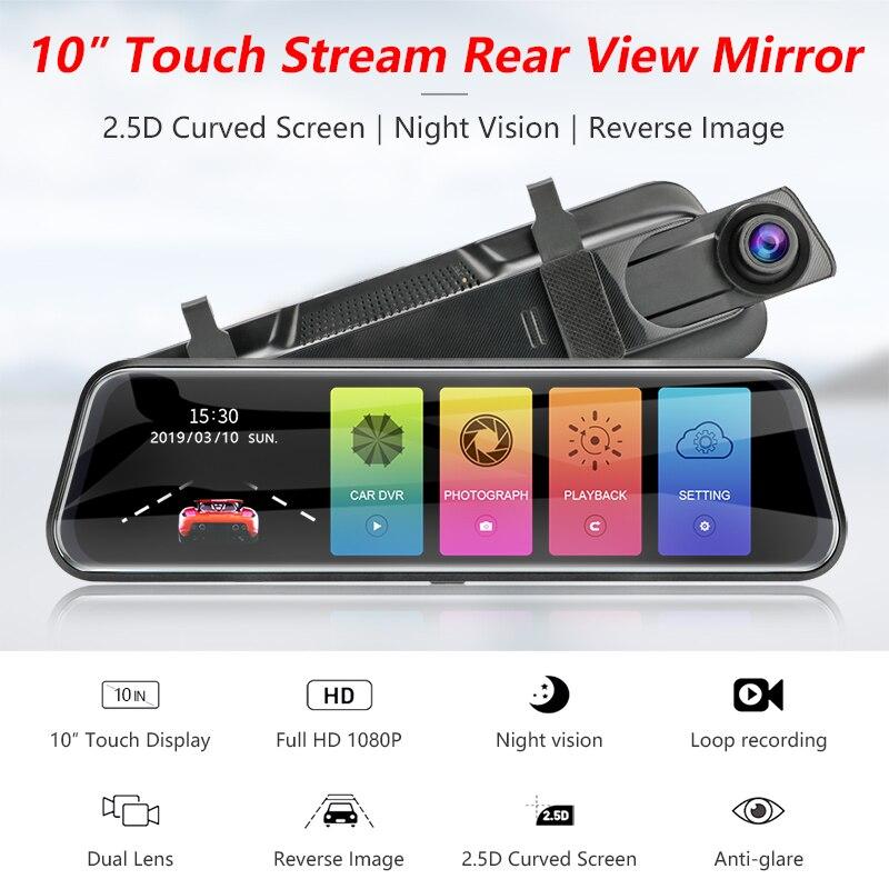Vtopek 10 39 39 dash cam car camera dvr Streaming media mirror Full View Screen adjust front lens design Loop Recording G Sensor in DVR Dash Camera from Automobiles amp Motorcycles