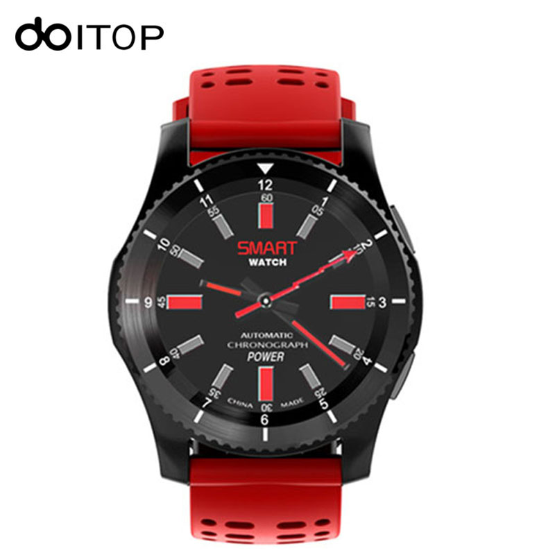 DOITOP GS8 Smart Watch Sport WristWatch Blood Pressure Measure Heart Rate Pedometer GPS SIM Card for IOS Android Smartphones jaysdarel heart rate blood pressure monitor smart watch no 1 gs8 sim card sms call bluetooth smart wristwatch for android ios