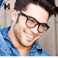 Los Hombres clásicos de Espesor Cuadrados Gafas Mujeres Uñas Decration Metal Bisagras Gafas de Marco Azul Claro gafas de Lentes de Protección de Rayos