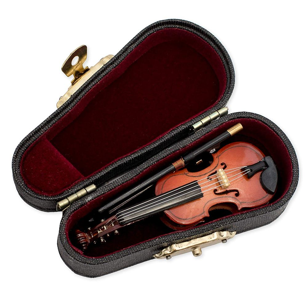 Gifts Violin Music Instrument Miniature Replica With Case
