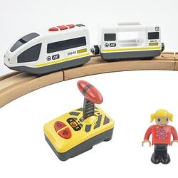 RC электрический магнитный поезд с каретой звук и свет Экспресс грузовик FIT Томас деревянный трек дети электрические игрушки детские игрушк...