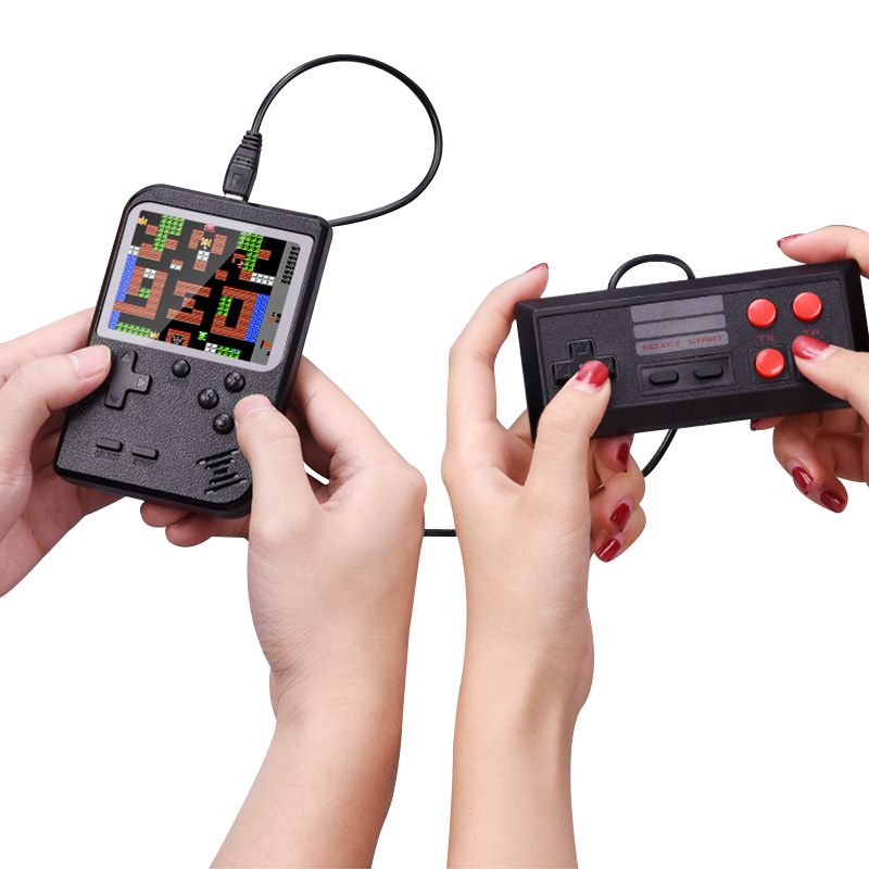 Mini Video Handheld Game Console Retro Doubles Player 3.0 inch LCD 8 Bit Portable Pocket Console 400 Games To TV with Gamepad screenshot
