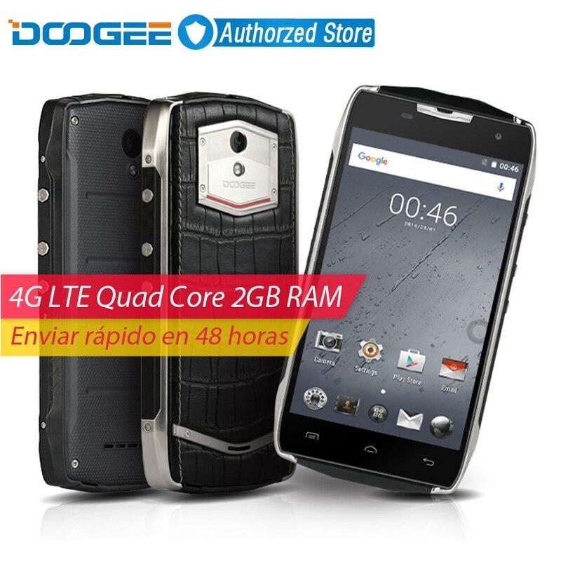 Цена за Doogee t5 lite мобильный телефон 5 дюймов hd mtk6735 quad core Android 6.0 водонепроницаемый IP67 2 ГБ RAM 16 ГБ ROM 8MP 4500 мАч 4 Г смартфон