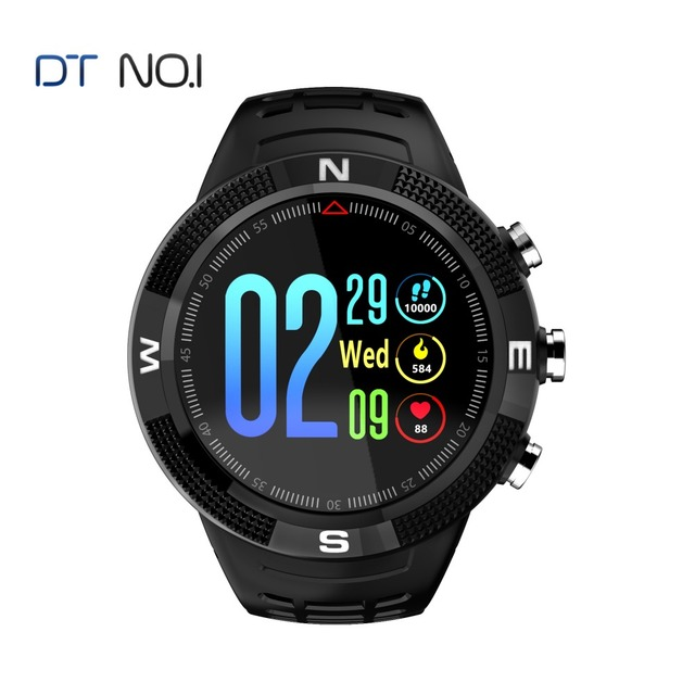 NO.1 F18 Real Waterproof IP68 GPS Smartwatch Support Swimming Compass Smart bracelet Call Message Reminder Pedometer Tracker