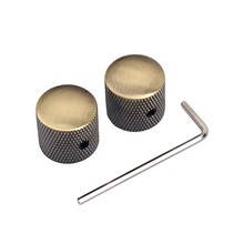 2 Pieces Guitar Potentiometer Knobs with Allen Wrench for Guitar/Bass Replacement Parts Accessories