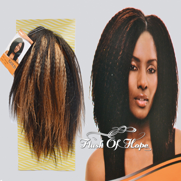 2 Packs For Full Head Noble Gold Maxine Synthetic Hair