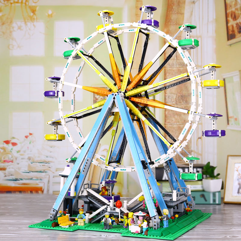 DHL LEPIN 15012 2518Pcs City Expert Ferris Wheel Model Building Kits Blocks Bricks Toys Compatible with legoed 10247 new lepin 16009 1151pcs queen anne s revenge pirates of the caribbean building blocks set compatible legoed with 4195 children