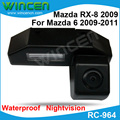 Special for Mazda 6 2009-2011 Mazda RX-8 2009 rearview camera with 170 Degree angle nightvision waterproof free shipping
