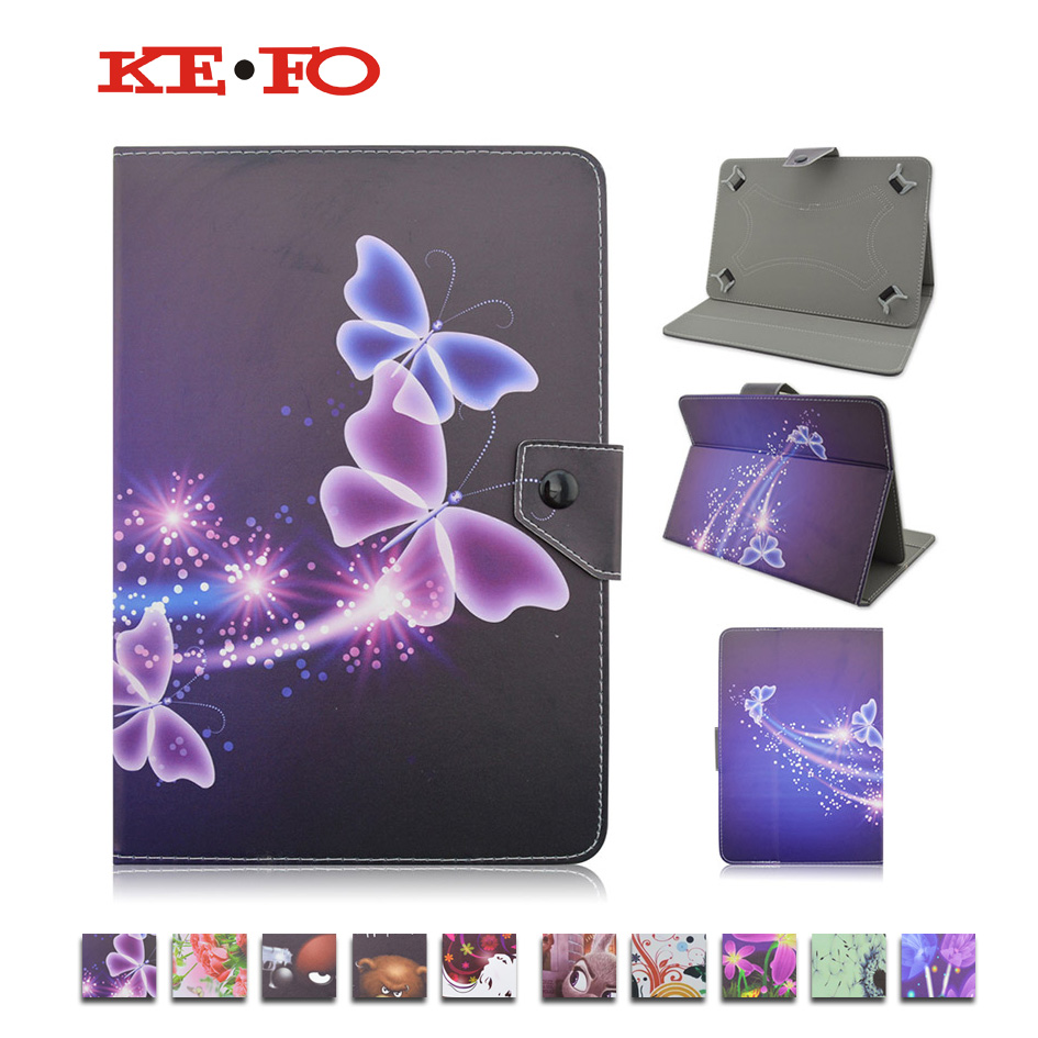 For RoverPad 3W T71D Universal 7 inch Tablet Leather Case Stand Cover For ASUS Google Nexus 7 2nd Gen II 2 for kids+Film