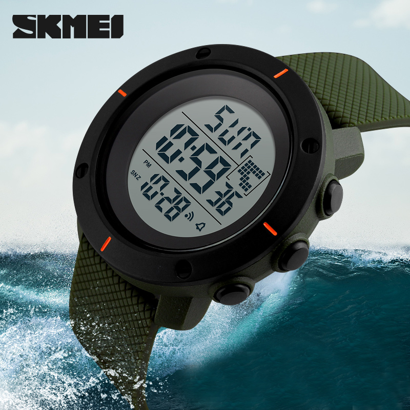 SKMEI Men's Watches Sport Watch Double Time Week Display Chronograph LED Display Digital Waterproof Clock Sport Watches For Men skmei skmei big dial dual time display sport digital watch men chronograph analog led electronic wristwatch s shock clock