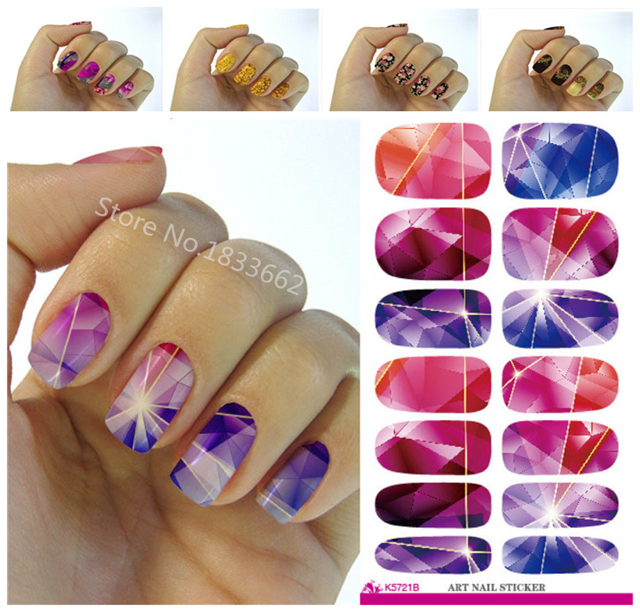 Easy Fall Nail Decoration: Fashionable Small Broken Flower Decoration Nail Decal Art