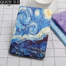 QIJUN tablet flip case for Apple ipad mini 2019 painting Smart wake UP Sleep fundas fold Stand cover capa mini5 A2133 A2124