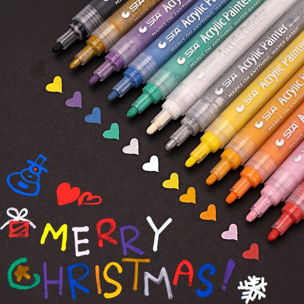 Acrylic Paint Markers,Widely used Medium Point Art ...