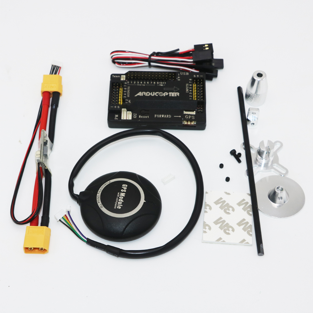 1set APM 2.6 ArduPilot Mega Internal Compass APM Flight Controller w/Ublox NEO-7M GPS RC Airplane Part Dropship apm 2 6 flight controller board ardupilot mega 2 6 version with side pin connector for multicopter