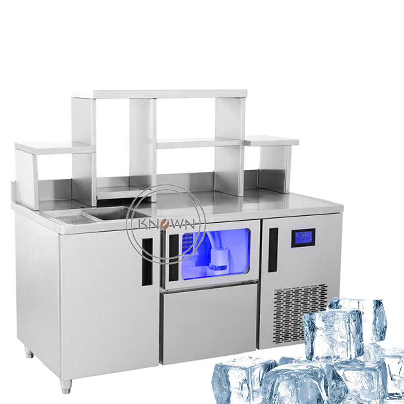 1500mm Length Table Type Ice Cube Maker/ice Maker/ice Making Machine/ Ice Bar Making Machine With Two Ice Maker