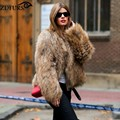 2016 New Arrival Real Raccoon Fur Knitted Women's Natural Raccoon Fur Jacket Raccoon Fur Coat Outerwear Super Fashion 8 Colors