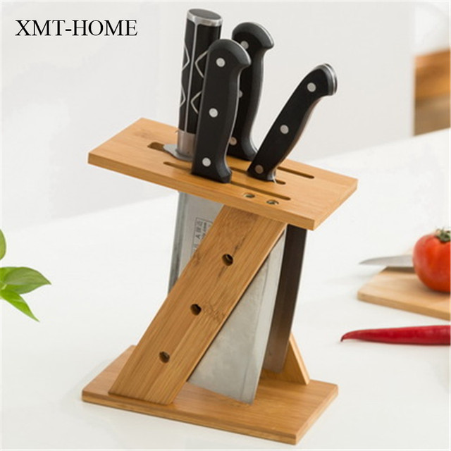 kitchen knife storage tops cabinets xmt home stand for knives block holder wooden rack 1pc