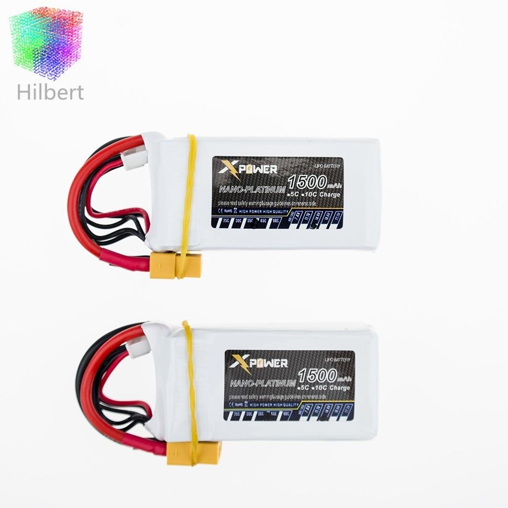 1500Mah 14 8V 4S 45C Lithium Li po Battery XT60 Plug 2 pcs For RC Helicopter